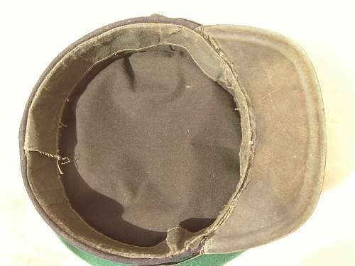 real WW2 border guard visor hat?