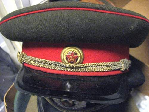 Thoughts on this WW2 Soviet officer visor