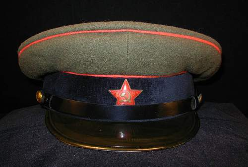 Soviet Armored troops cap, early DDR made