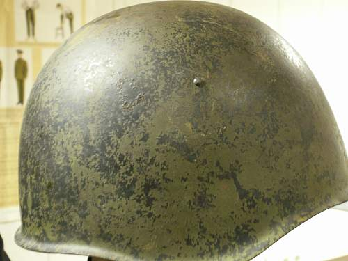Two Soviet WW2 Helmets
