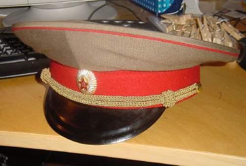 Medical Service General's Service Uniform Visor Cap