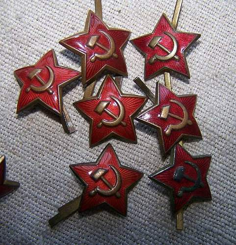 M 35 cap stars, small for pilotka cap
