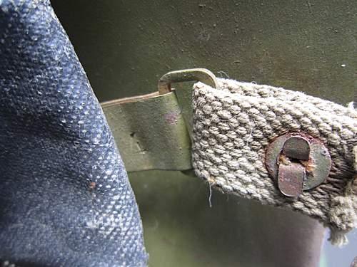 Ssh-39 battle damaget with black oilcloth (graylex) liner