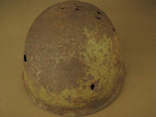 Battle Damaged SSh40 Helmet