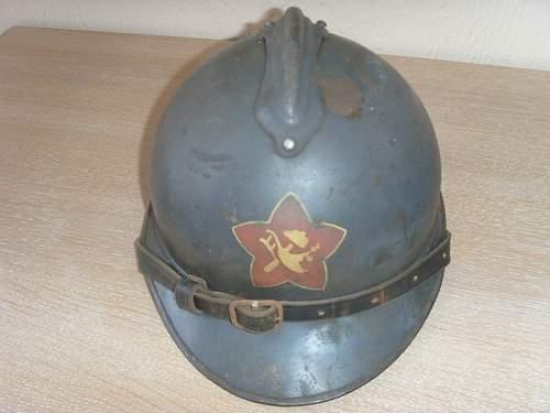 Soviet M15 Adrian Helmet - Real decal?