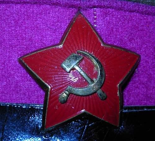 M 40 Soviet visor cap and cockade. Please ID