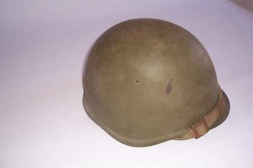 Soviet helmet.