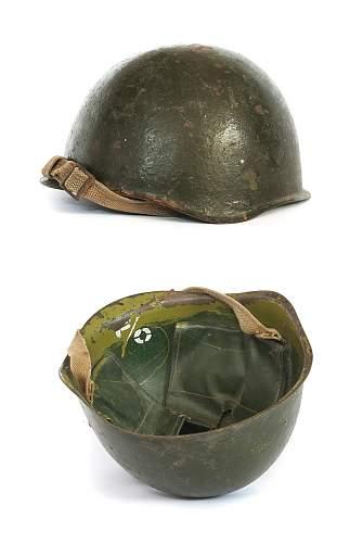 late war russian helmet with unusual liner