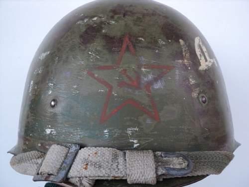 WW2 Original Russian helmet SSH-40 with some post war paints ?