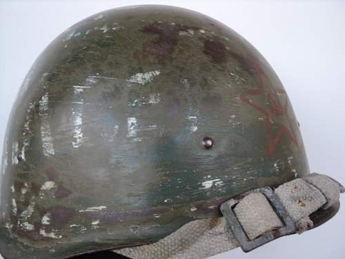 Click image for larger version.  Name:WW2 Original Russian helmet SSH-40a.JPG Views:169 Size:141.3 KB ID:586152