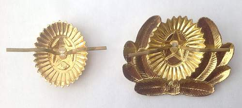 M55 Pattern cap cockades, Officers and Enlisted mans.