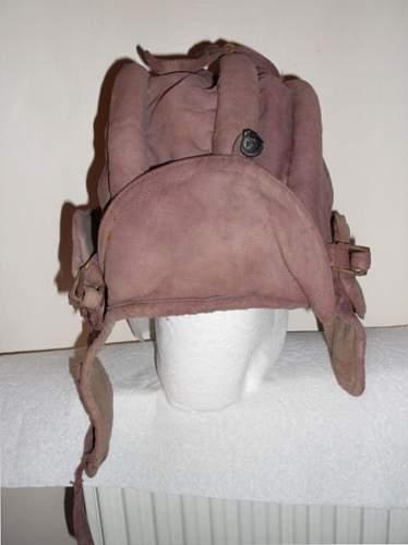 Soviet tank helmet