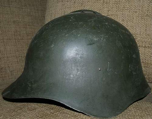 Soviet Ssch-36 steel helmet, dated 1936.