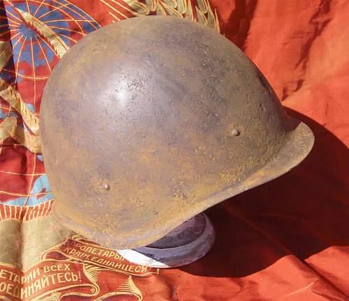 Ground dug Soviet helmets from Stalingrad area