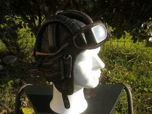 Leather tank helmet