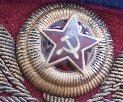 NKVD general ww2 parade visor cap