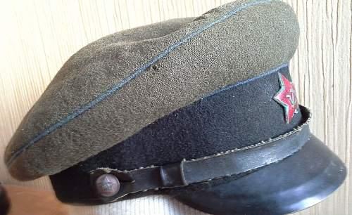 WW2 Soviet visor cap?