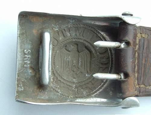 Two Rare alu belt buckles HEER