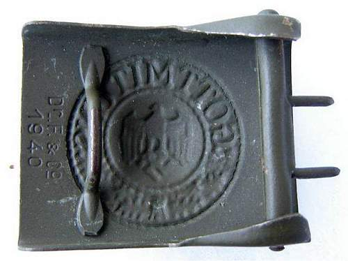 Heer Buckle by Dr. F & Co. 1940: Authentic Buckle?