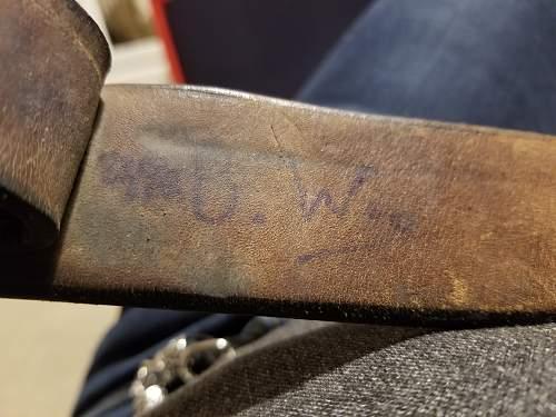 NOWA Heer  Buckle and Belt  - Name of owner written on belt