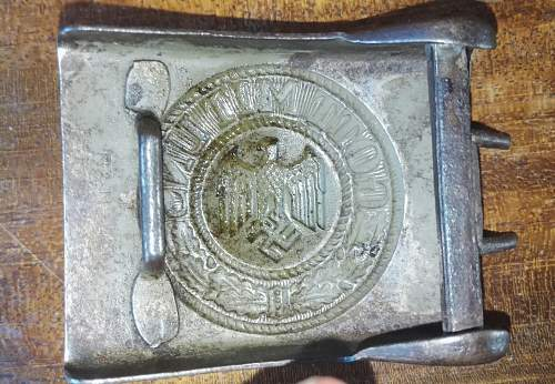 Bunte & Nolte steel Wehrmacht belt buckle original?