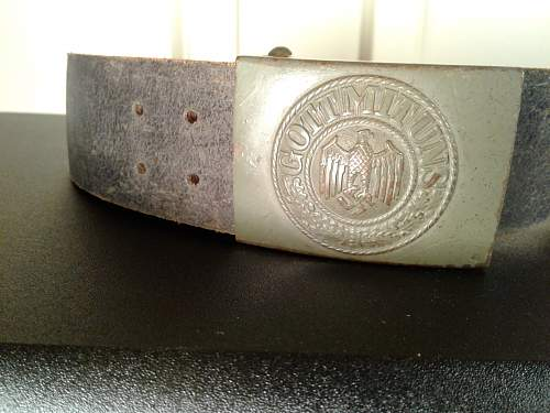 Some steel buckles.