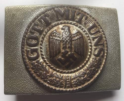 private buckle Wehrmacht army 1st model / box from Turnerbund