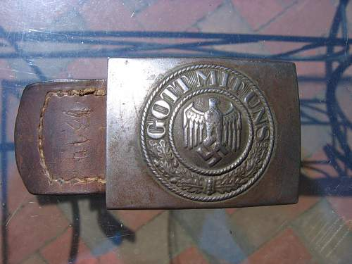 julius kremps buckle marked IKA41 with tab