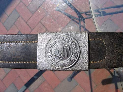Recent belt/buckle purchase - unmarked buckle/faint marked belt