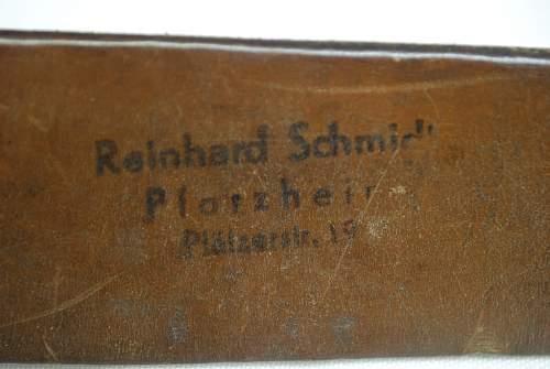 Heer: R. Schmidt Belt and Buckle