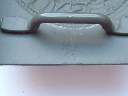 Heer Painted Steel Buckle H.A. 41 Hermann Aurich
