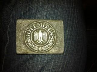 Gott Mit Uns Aluminium buckle: help on value please.