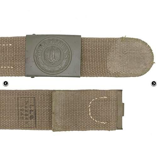 Tropical Belt (LLG Hessen 1942) with C. W. Motz 1941 buckle