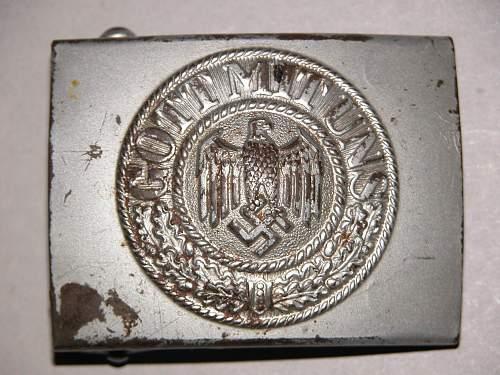 Heer buckle: Silver c.t.d. 1943