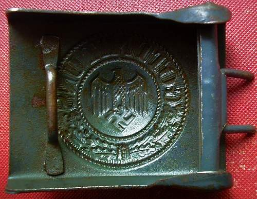 Steel Heer Buckle - G.Brehmer?? Please help