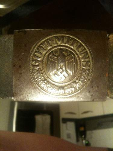 WWII German belt  with badge.