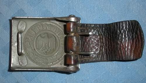 B&N 1940 Heer Koppelschloss w/tab