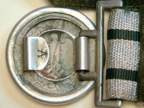 Army brocade dress belt