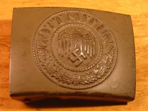 Please help identify/authenticate Gott Mit Uns belt buckle