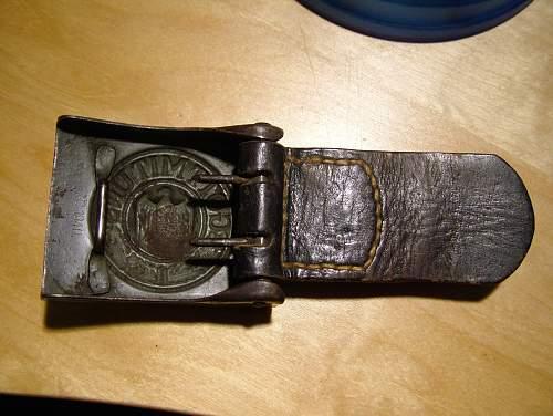 Steel Heer Dranseld Buckle with tab