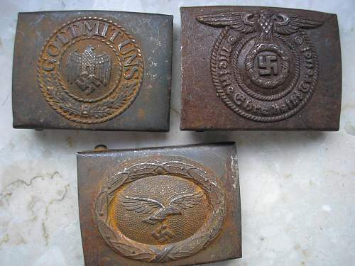 Luft, Heer & SS buckles for your opinions