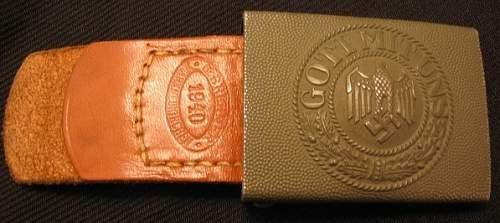 1940 - Year of Change - 2 Heer buckles & belts.