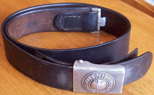 GOTT MIT UNS Belt & Buckle - Real or Fake
