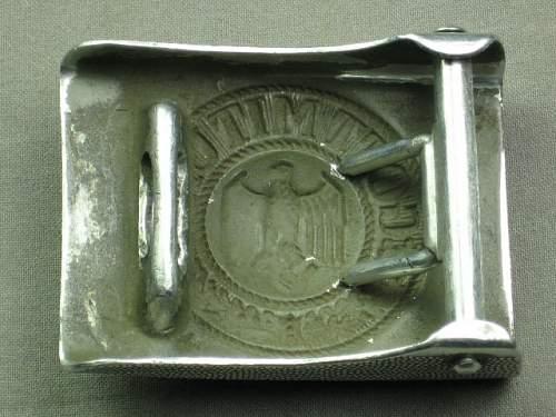 Heer buckle & Luftwaffe buckle