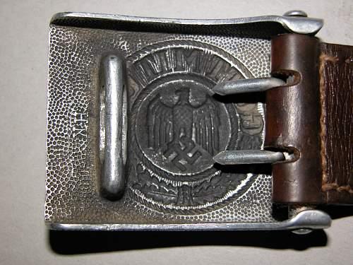 Heer buckle-hermann knoller 1938