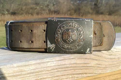 Heer EM belt and buckle