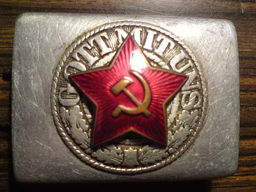 Red Army/Partisan converted Heer buckle