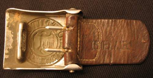 First Unit marked Heer buckle