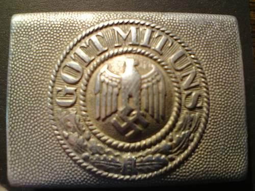 Wehrmacht aluminium buckle