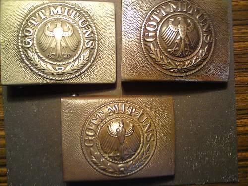 Three Reichswehr buckles
